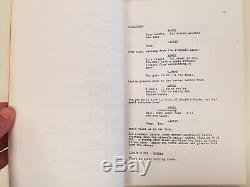 Halloween Original Film Script by John Carpenter & Debra Hill 1978 RARE