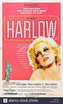 Harlow 1965 Movie Script Screenplay Carol Lynley & Ginger Rogers, Drama Film