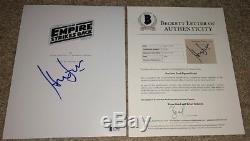 Harrison Ford Signed Star Wars Empire Strikes Back Movie Script Han Solo Bas
