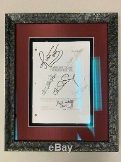 Harry Potter & The Goblet of Fire Movie Script Signed + COA + Framed