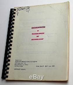 HauntedWeen 1989 Original Movie Script Retro Horror, Slasher Cult Film