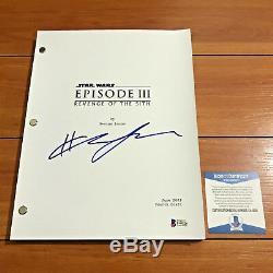 Hayden Christensen Signed Star Wars Revenge Of The Sith Movie Script Beckett Coa