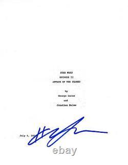 Hayden Christensen Signed'star Wars II Attack Of The Clones' Movie Script Coa