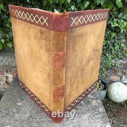 Huge Vintage Ledger 1900s Blank Book Stage Film Play Prop Crafting Crafter Craft