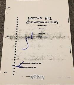 Hugh Grant Signed Autograph Notting Hill Full Complete Movie Script Coa