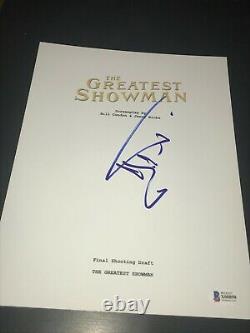 Hugh Jackman Signed Autograph Script Movie The Greatest Showman Beckett Bas Auto