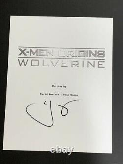 Hugh Jackman Signed X-men Origins Wolverine Movie Script Proof Jsa Coa