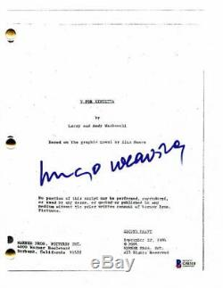 Hugo Weaving Signed Autograph V For Vendetta Movie Script Natalie Portman