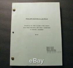 Hunter S. Thompson Fear And Loathing In Las Vegas Terry Gilliam Film Script