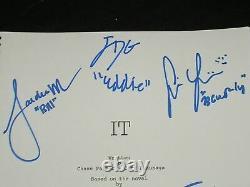 IT Kids Cast 7 Signed IT (2017) MOVIE SCRIPT Autograph BAS BECKETT COA VERY RARE