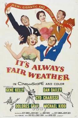 IT'S ALWAYS FAIR WEATHER / Betty Comden 1954 Screenplay, Gene Kelly musical film