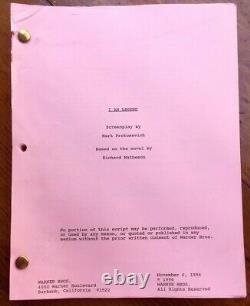 I Am Legend Original Sci Fi Movie Script by Mark Protosevich (Will Smith)