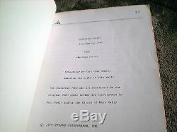 I Go Pogo The Movie 1980 ORIGINAL production script-screenplay SUPER RARE
