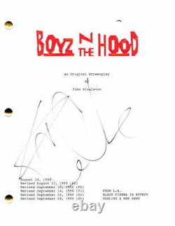 Ice Cube Signed Autograph Boyz In The Hood Full Movie Script Laurence Fishburne