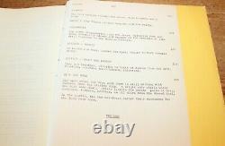 JAWS MOVIE SCREENPLAY SCRIPT ORIGINAL VINTAGE Steven Spielberg AUGUST 5, 1974