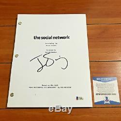 JESSE EISENBERG SIGNED THE SOCIAL NETWORK FULL MOVIE SCRIPT with BECKETT BAS COA