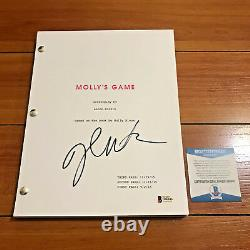 JESSICA CHASTAIN SIGNED MOLLY'S GAME FULL 201 PG MOVIE SCRIPT with BECKETT BAS COA