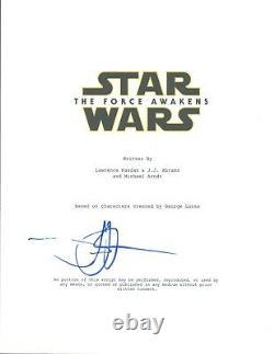 JJ ABRAMS J. J. Signed Autograph Star Wars The Force Awakens Movie Script COA