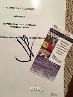 JJ Abrams Signed Star Wars The Force Awakens Full Movie Script JSA Actors Copy