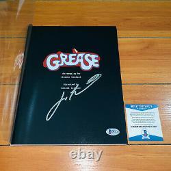 JOHN TRAVOLTA SIGNED GREASE FULL 123 PAGE MOVIE SCRIPT with BECKETT BAS COA RARE