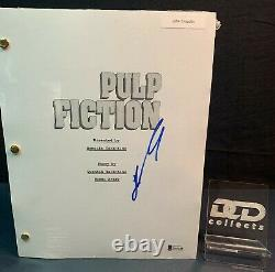 JOHN TRAVOLTA Signed Pulp Fiction Full Movie Script Beckett COA Vincent Vega
