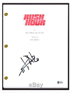 Jackie Chan Signed Autographed RUSH HOUR Movie Script Beckett BAS COA