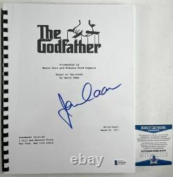 James Caan Autographed The Godfather Complete Movie Script Signed BAS COA
