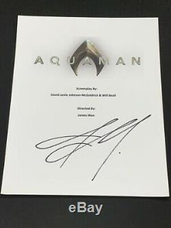Jason Momoa Signed Aquaman Full Movie Script Autographed Proof