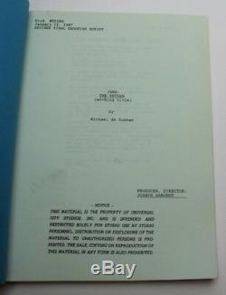 Jaws The Revenge / Michael de Guzman 1987 Movie Script Screenplay, Horror Film