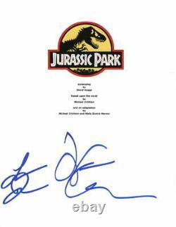 Jeff Goldblum & Laura Dern Signed Autograph Jurassic Park Full Movie Script