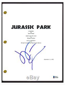 Jeff Goldblum Signed Autograph JURASSIC PARK Movie Script Screenplay Beckett COA