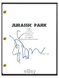 Jeff Goldblum Signed Autographed JURASSIC PARK Full Movie Script Screenplay COA