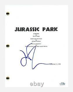 Jeff Goldblum Signed Autographed JURASSIC PARK Movie Script Screenplay ACOA COA