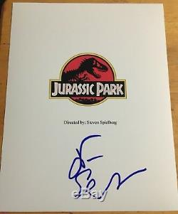 Jeff Goldblum Signed JURASSIC PARK Full Movie Script 136 Page Autograph proof