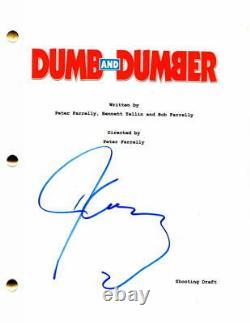 Jim Carrey Signed Autograph Dumb And Dumber Full Movie Script Jeff Daniels