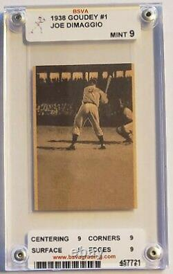Joe Dimaggio 1938 Goudey Movie Card/Flip Book (MINT)