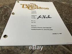 Joe Hale Signed Autographed The Black Cauldron Full Movie Script Disney Animator