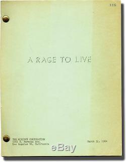 John O'Hara RAGE TO LIVE Original screenplay for the 1965 film 1964 #129217