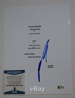 John Travolta Signed Autographed PULP FICTION Full Movie Script Beckett BAS COA