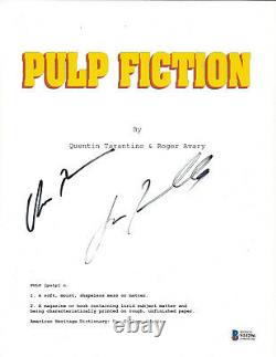 John Travolta & Uma Thurman Signed'pulp Fiction' Movie Script Beckett Bas Coa