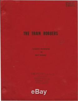 John Wayne TRAIN ROBBERS Original screenplay for the 1973 film 1972 #123635
