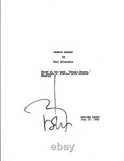 Johnny Depp Signed Autographed DONNIE BRASCO Movie Script COA VD