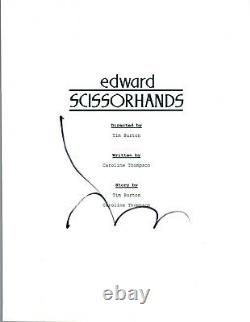 Johnny Depp Signed Autographed EDWARD SCISSORHANDS Movie Script COA VD