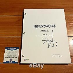 Johnny Depp Signed Edward Sissorhands Full 117 Page Movie Script Beckett Bas Coa