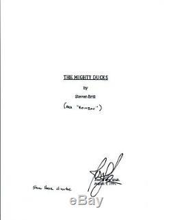 Joshua Jackson Signed Autographed THE MIGHTY DUCKS Full Movie Script COA