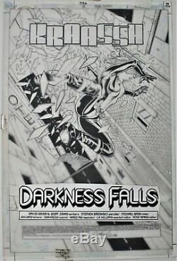 Jsa #7 Page 1 Stephen Sadowski Original Comic Book Art Black Canary Splash Movie
