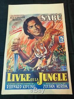 Jungle Book / 1942 / Sabu / R. Kipling / Original Belgian Movie Poster