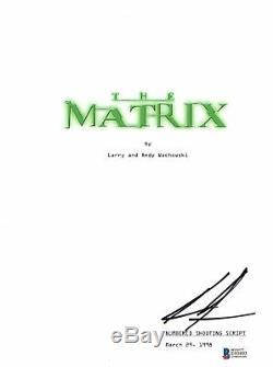 Keanu Reeves Signed Autographed The Matrix Full Movie Script Beckett Bas Coa