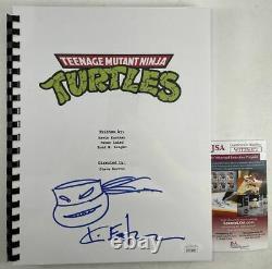 Kevin Eastman Autographed Teenage Mutant Ninja Turtles Movie Script JSA COA