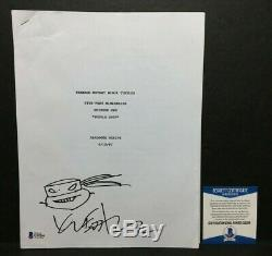 Kevin Eastman Signed'Teenage Mutant Ninja Turtles' Dialogue Movie Script BAS